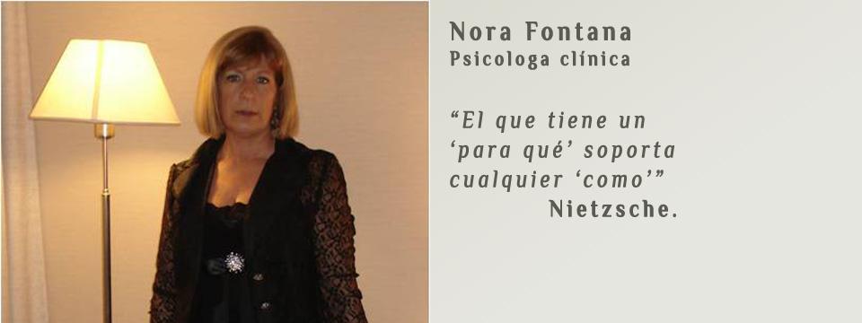 Nora Fontana – Psicóloga clínica
